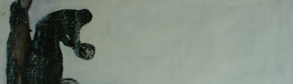 olio su tela 140 cm 70 cm 2008 collezione privata